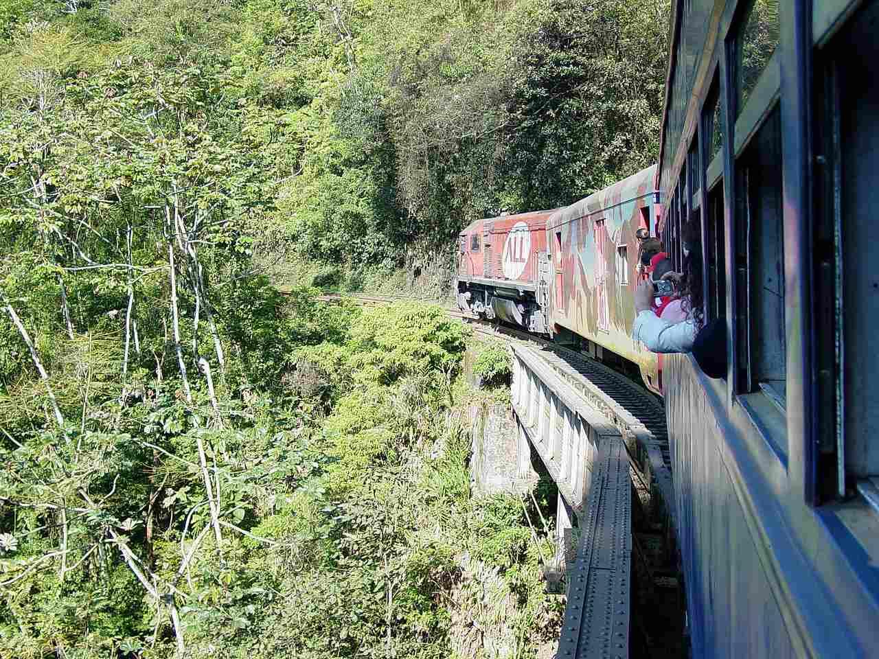 Train ride from Curitiba to Morretes, Brazil.
