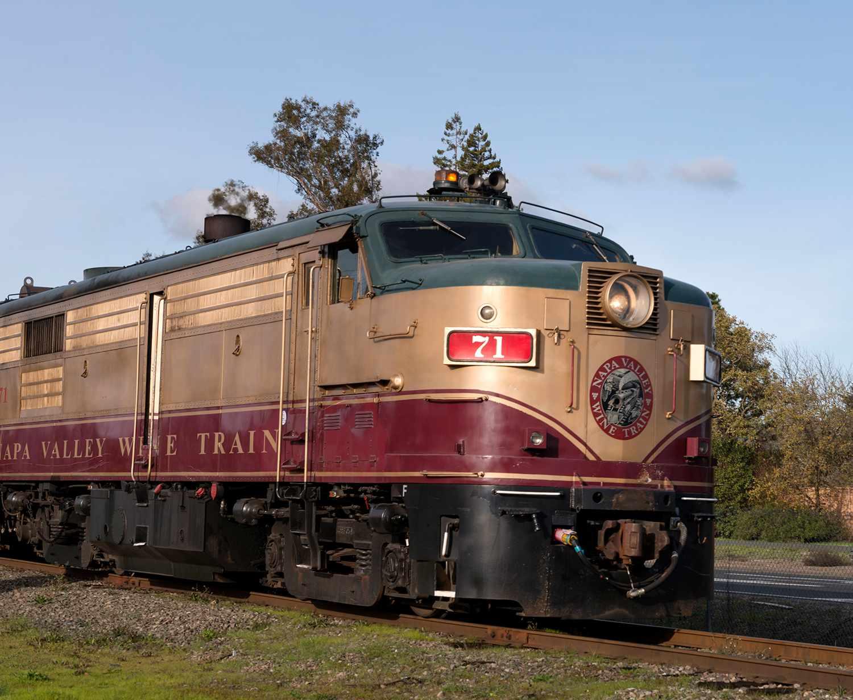 The Napa County wine train