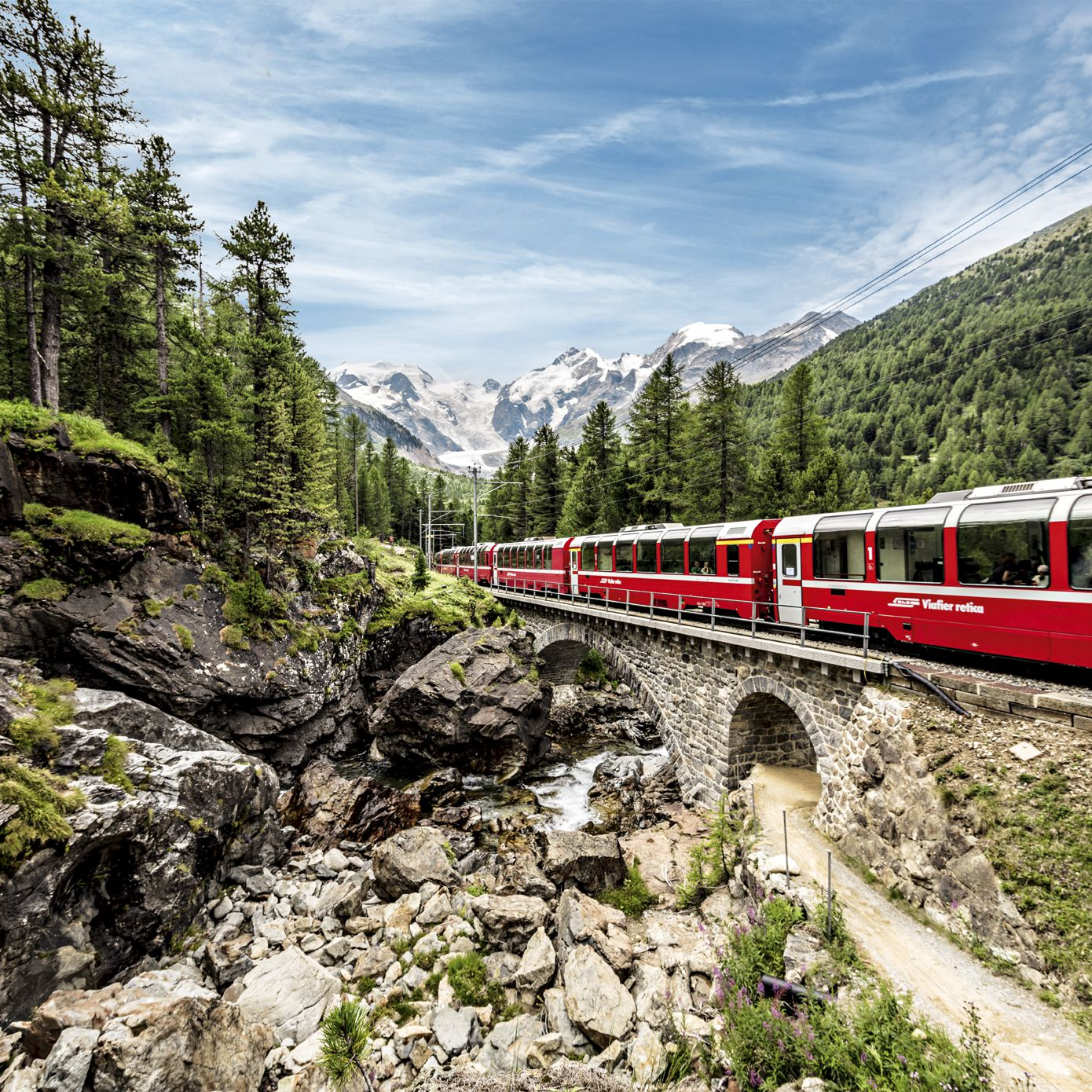Riding the Bernina Express From Italy to Switzerland