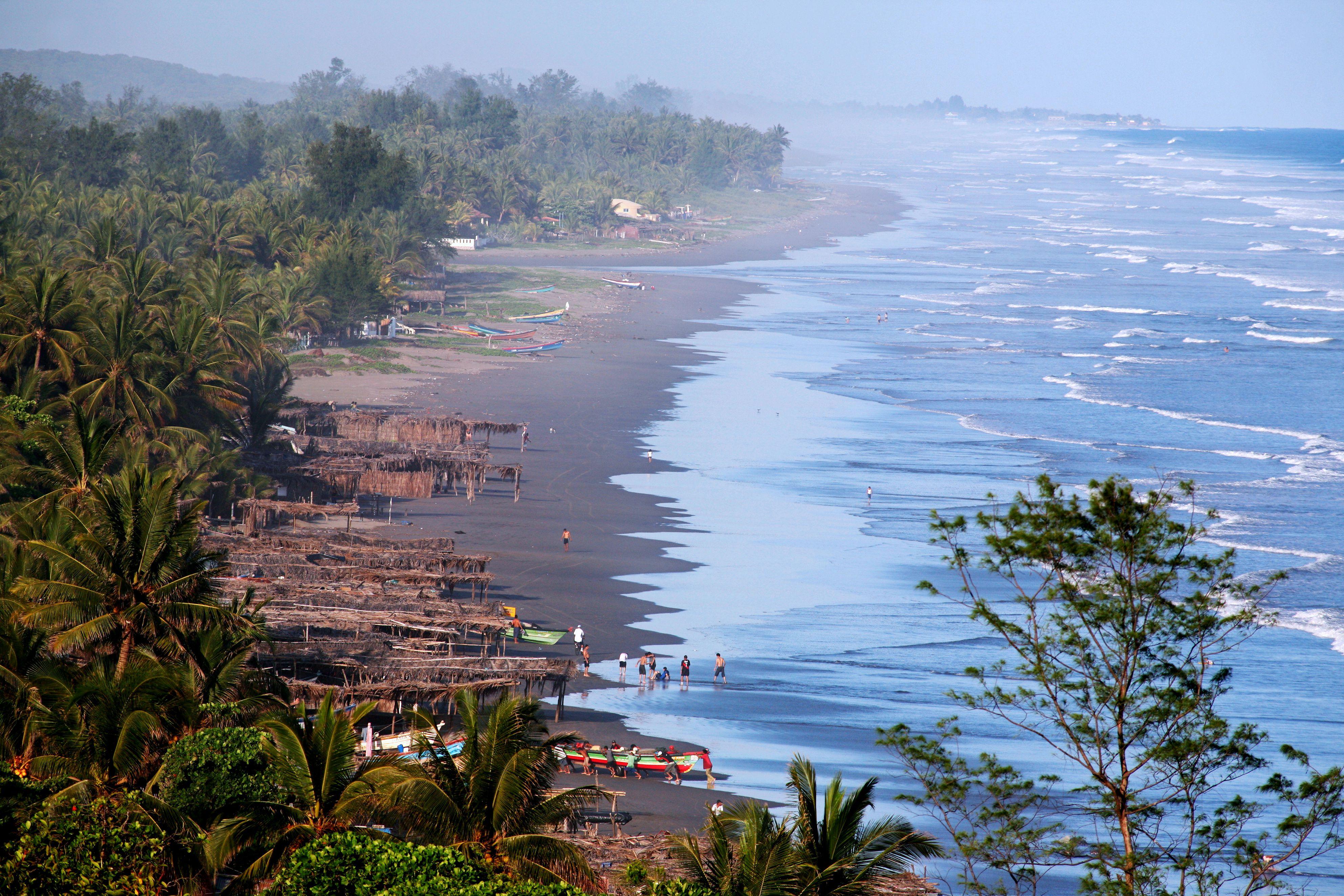 Overview of Playa El Cuco looking east.