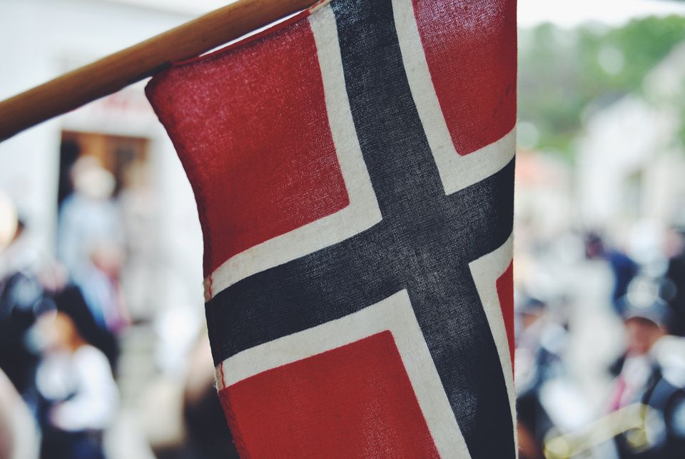 Close-Up Of Norwegian Flag