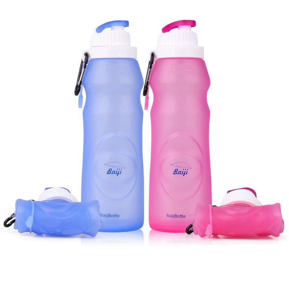 Botellas de agua de silicona plegables