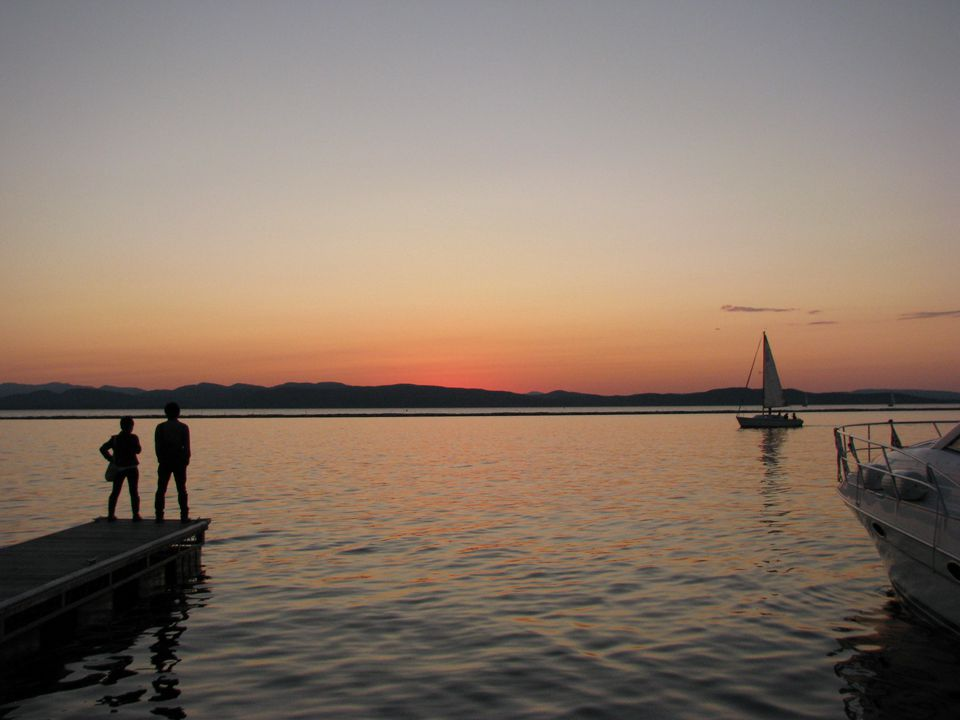 Burlington, Vermont waterfront on Lake Champlain