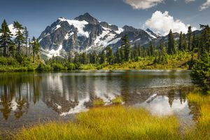 Picture Lake, Mt. Baker-Snoqualmie National Forest