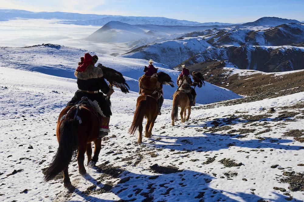 caza de águilas en Mongolia