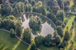 Aerial View of the burial site of Diana, Princess of Wales