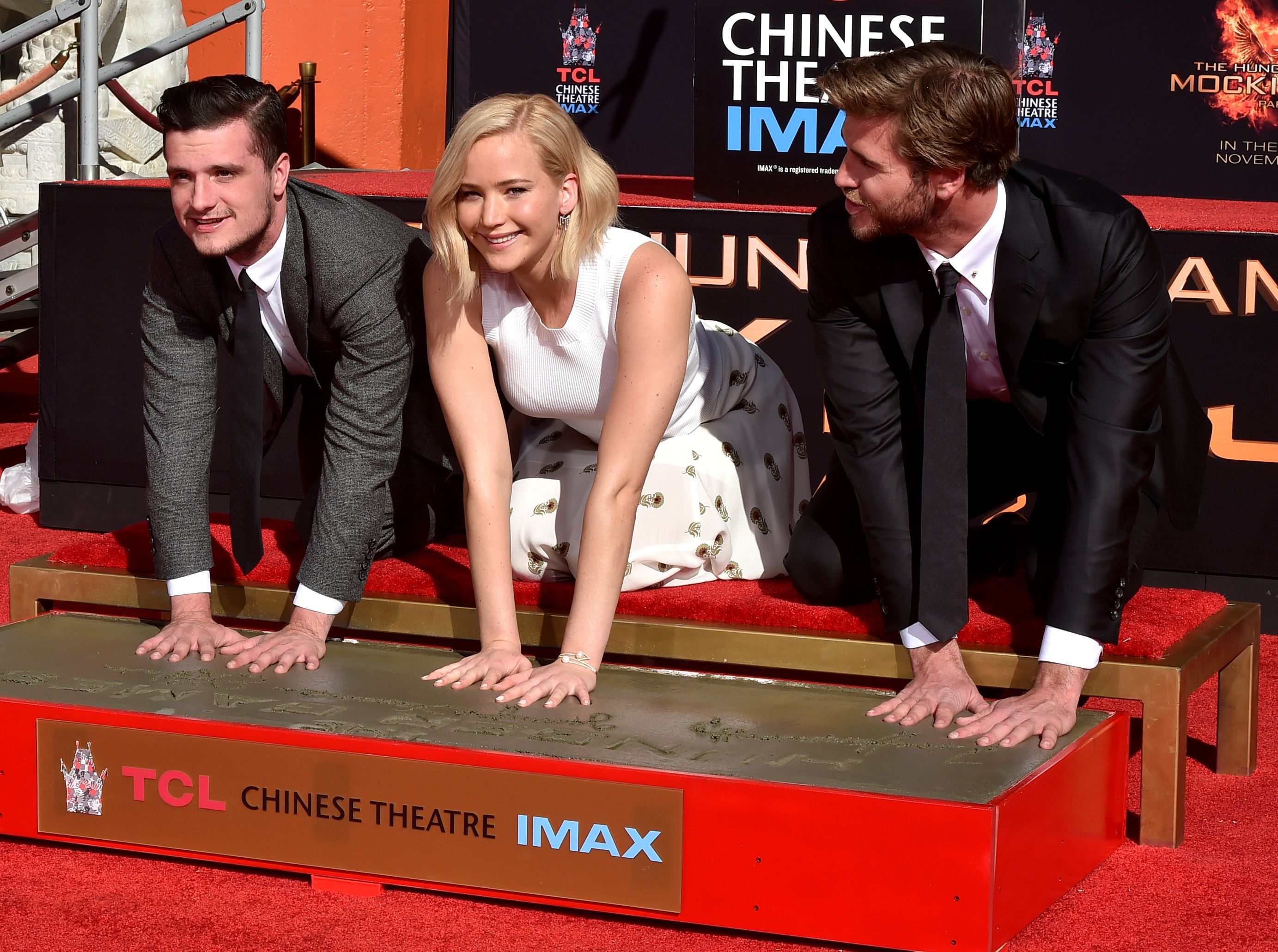 Stars From Lionsgate's 'The Hunger Games: Mockingjay - Part 2' Hand And Footprint Ceremony