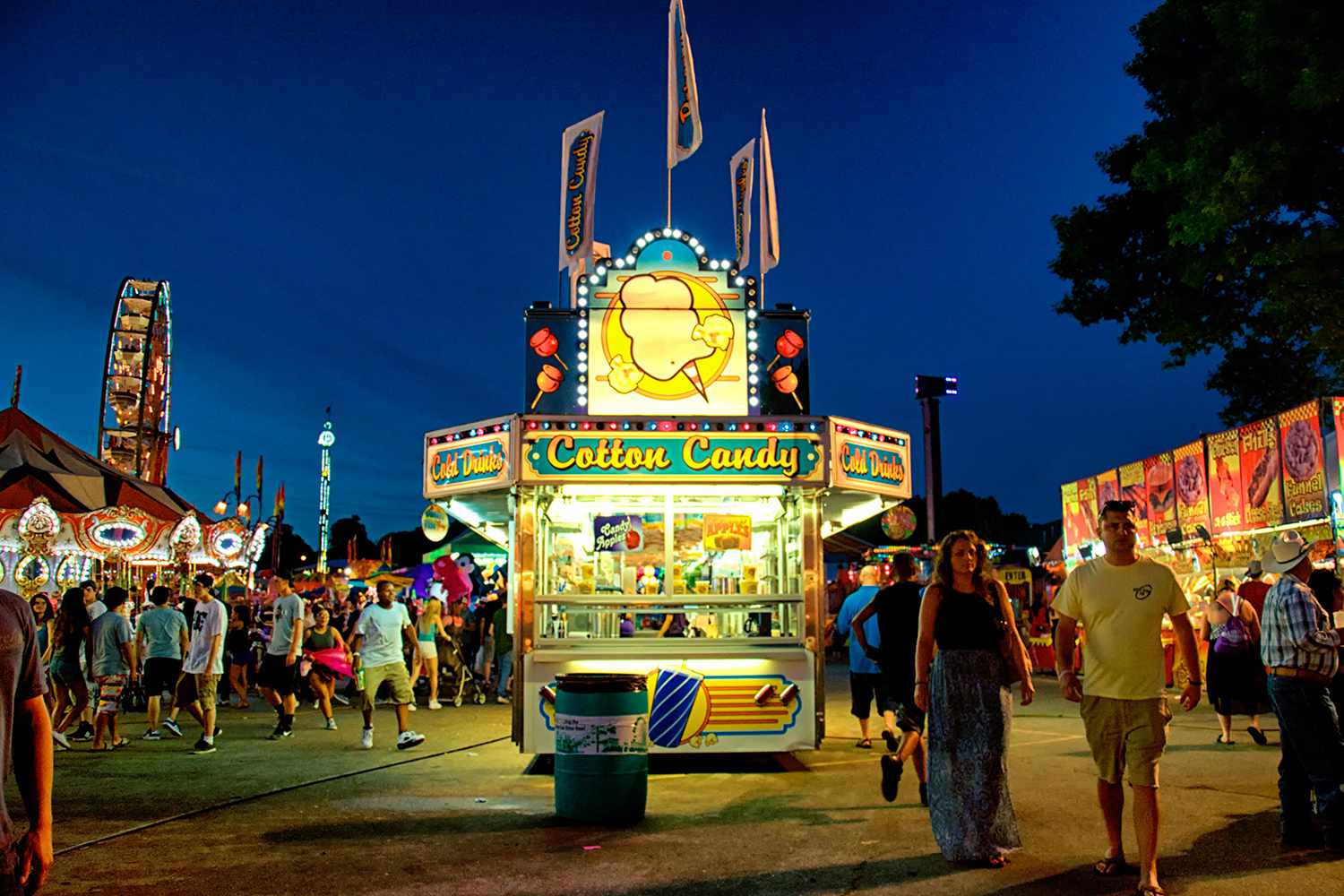 The Iowa State Fair Midway