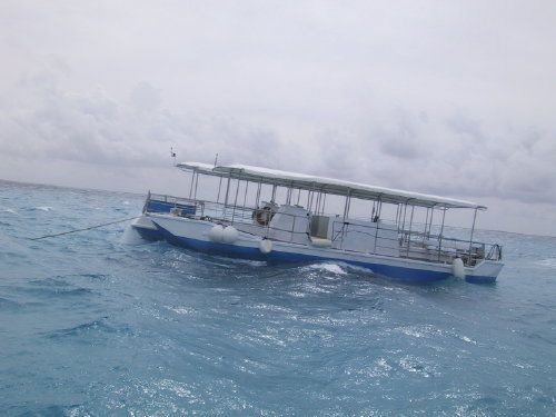 Boat for Stingray City Tour on Grand Cayman Island