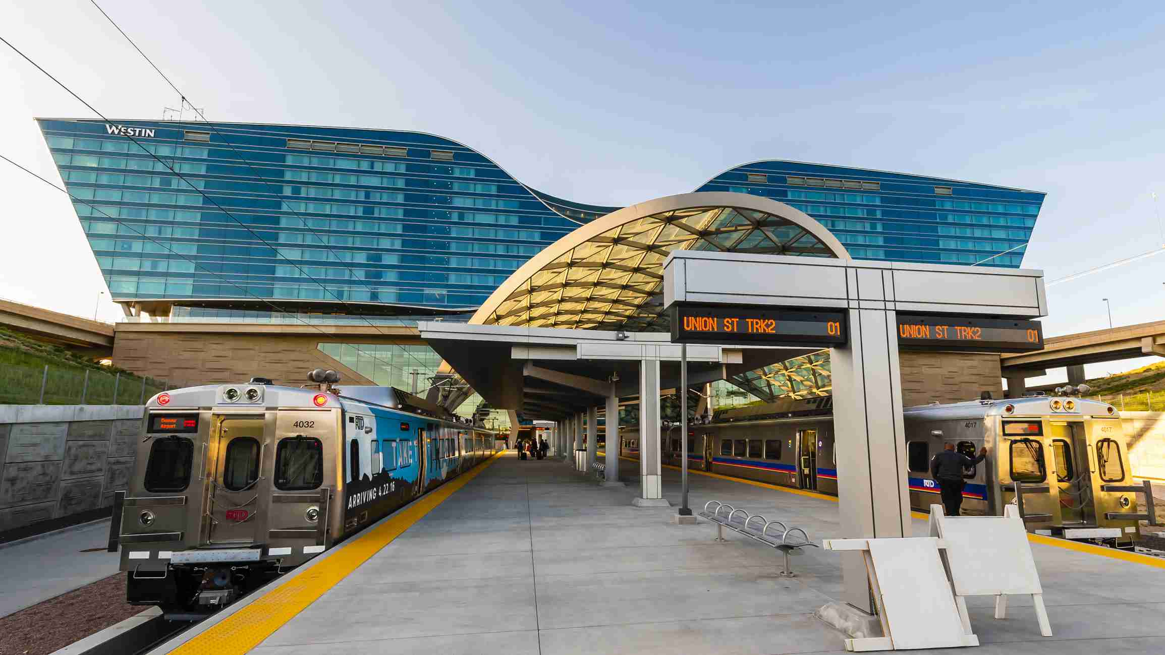 The train station at Denver International Airport