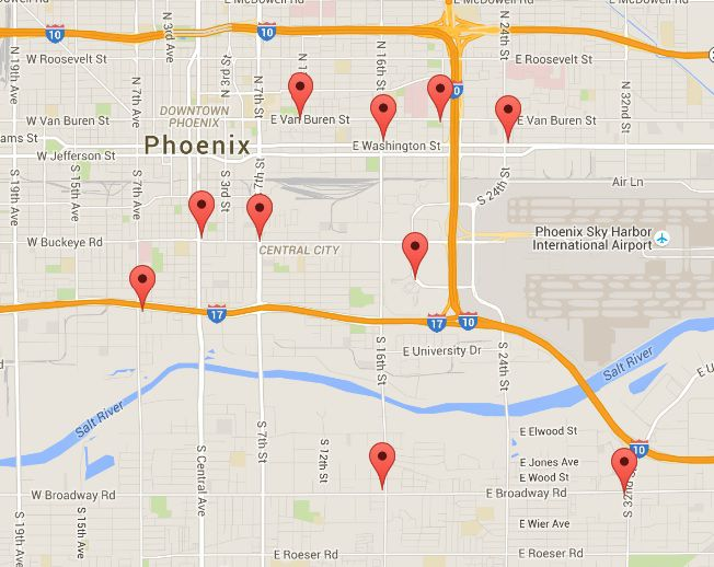 Gas Stations Near Phoenix Sky Harbor International Airport