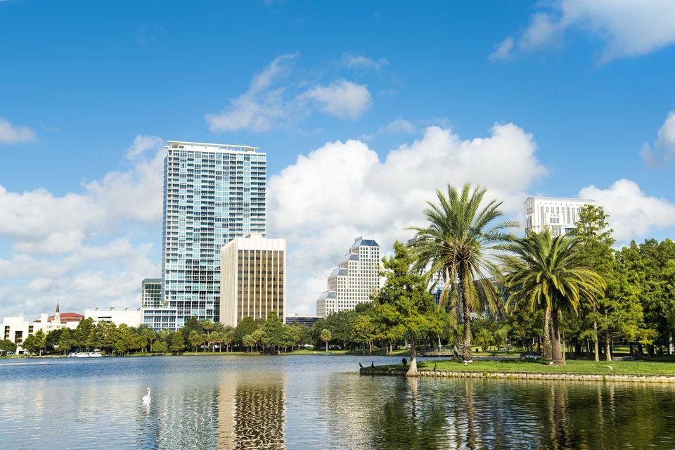 Lake view of Orlando Florida