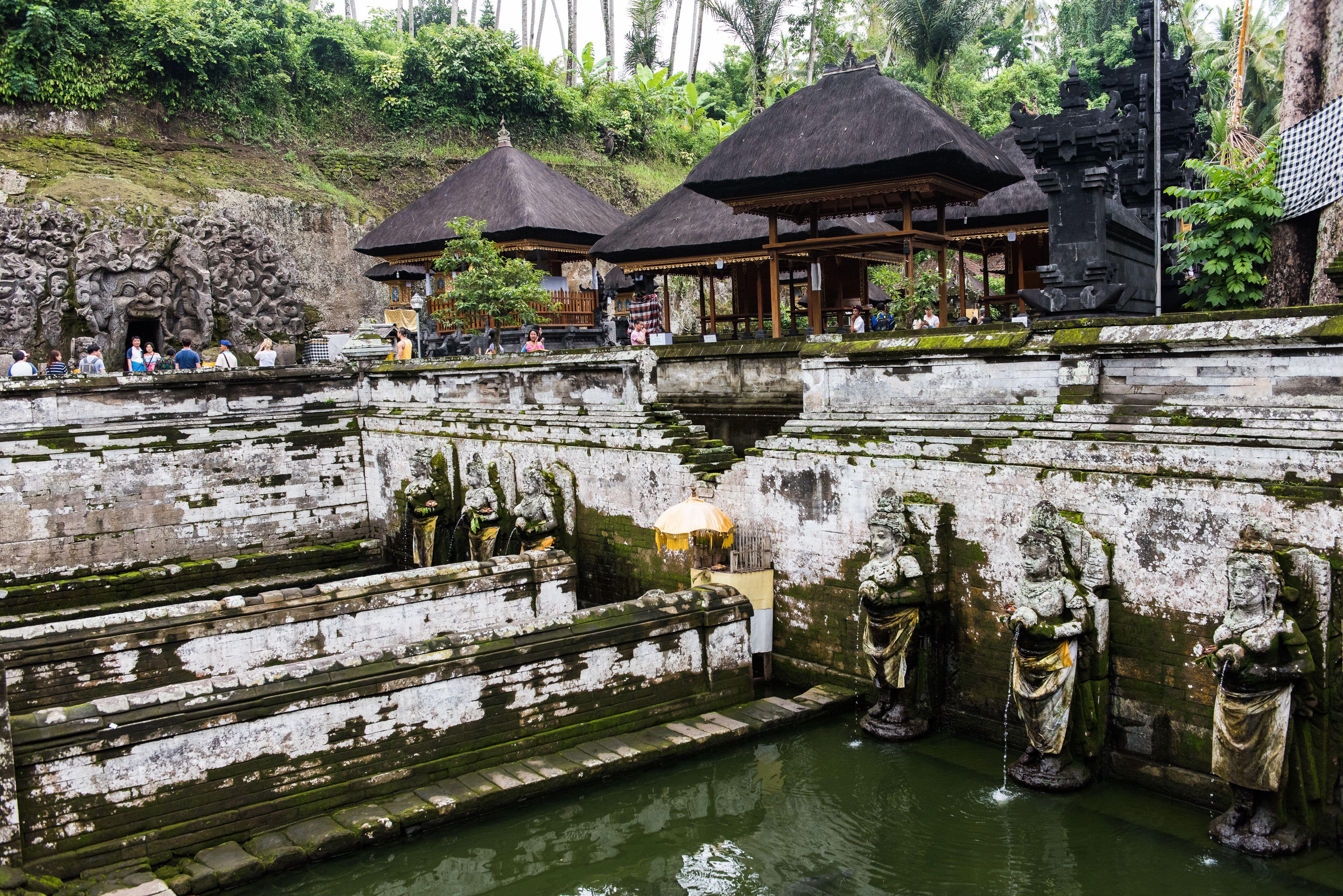Small pond at Goa Gajah in Bali