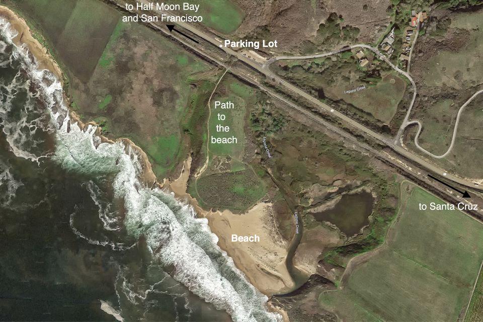Aerial View of Laguna Creek Beach