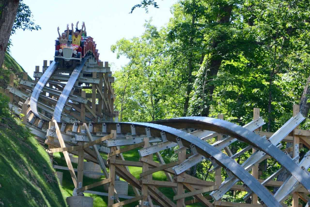 What Is a Hybrid Wooden and Steel Roller Coaster?