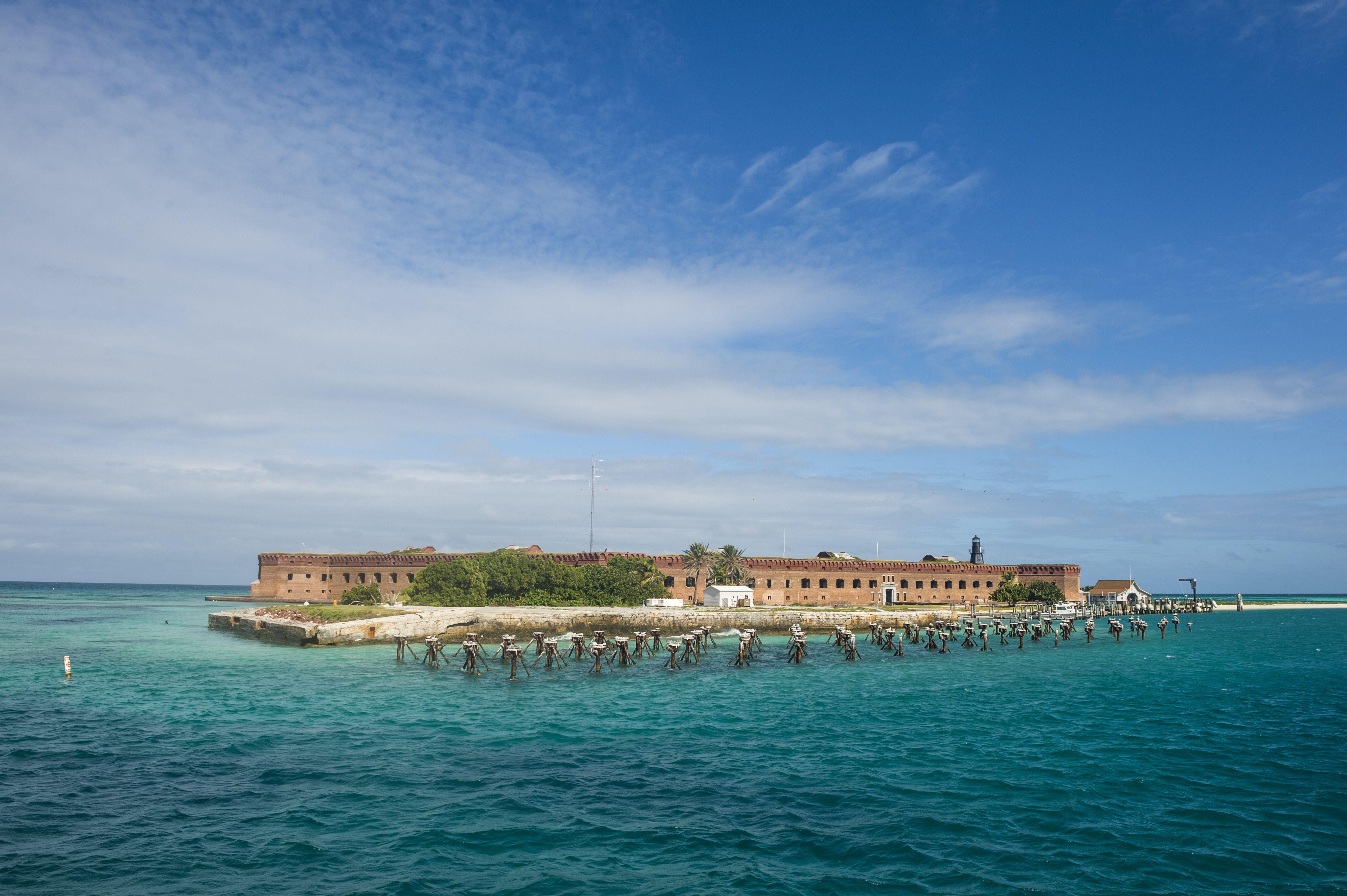 Fort Jefferson, Dry Tortugas National Park, Florida Keys, Florida, United States of America, North America