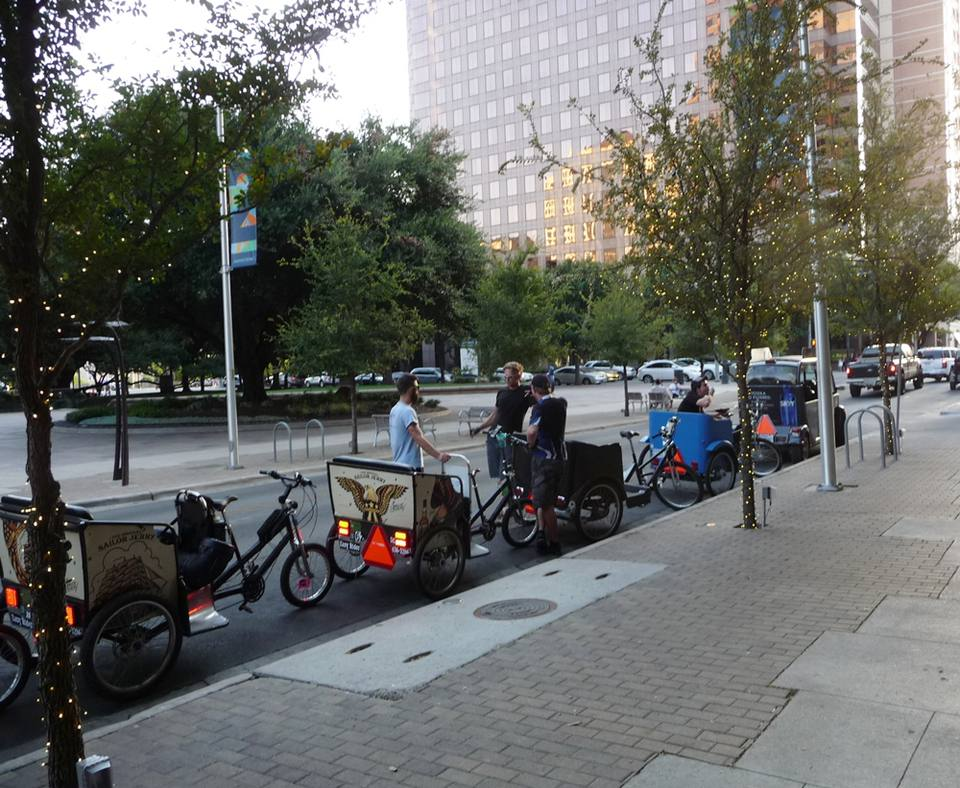 Pedicabs downtown Austin