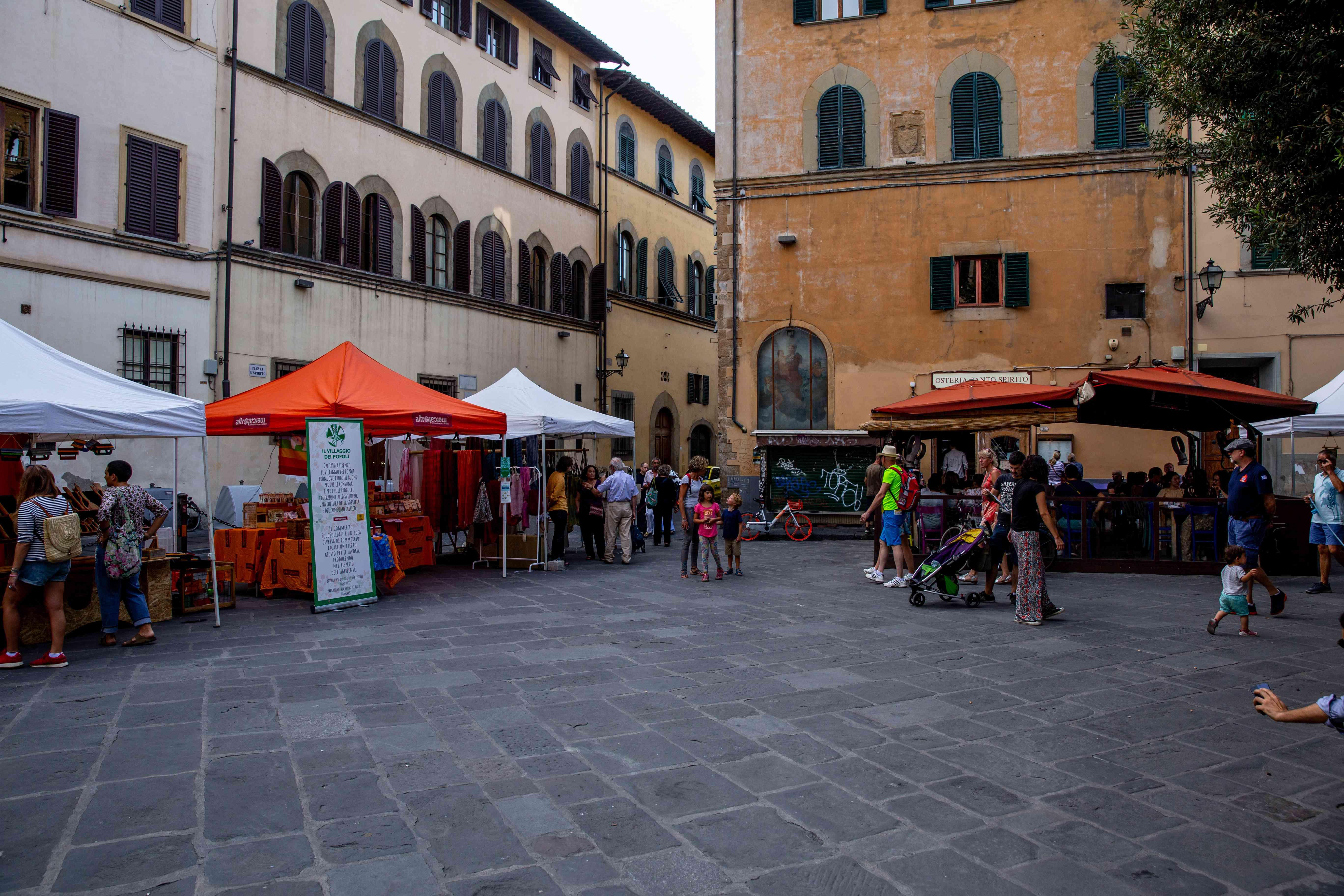 Piazza Santa Spirito in Florence, Italy