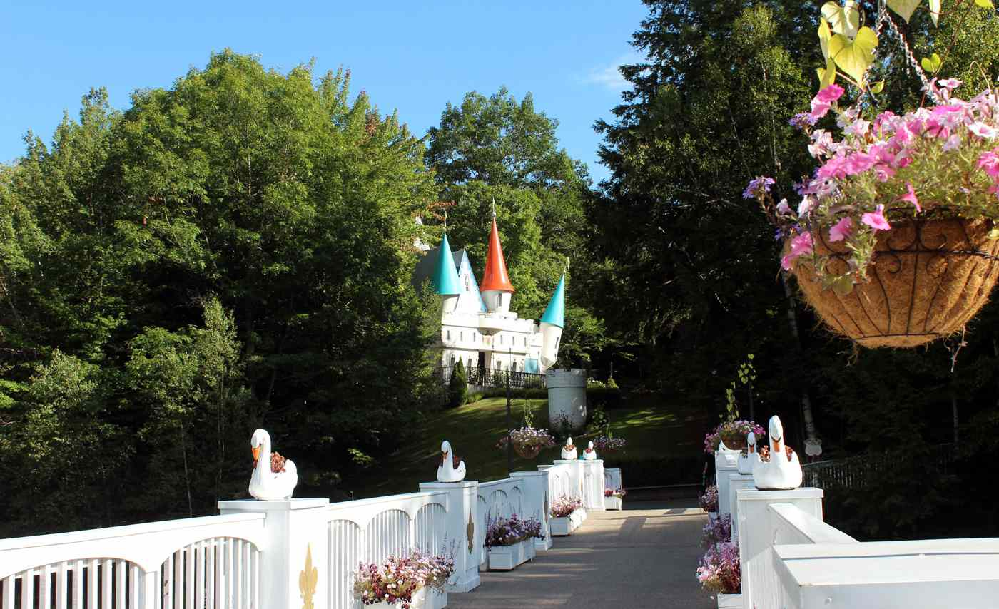 The castle at Story Land in New Hampshire