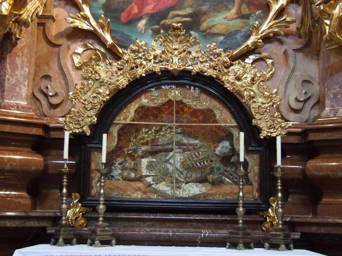 Saint Skeleton at Melk Abbey Church