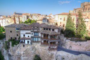 Casas colgadas de Cuenca desde el aire