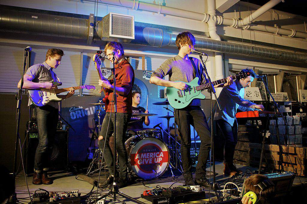 The band Howler performing at Rough Trade East, London, England