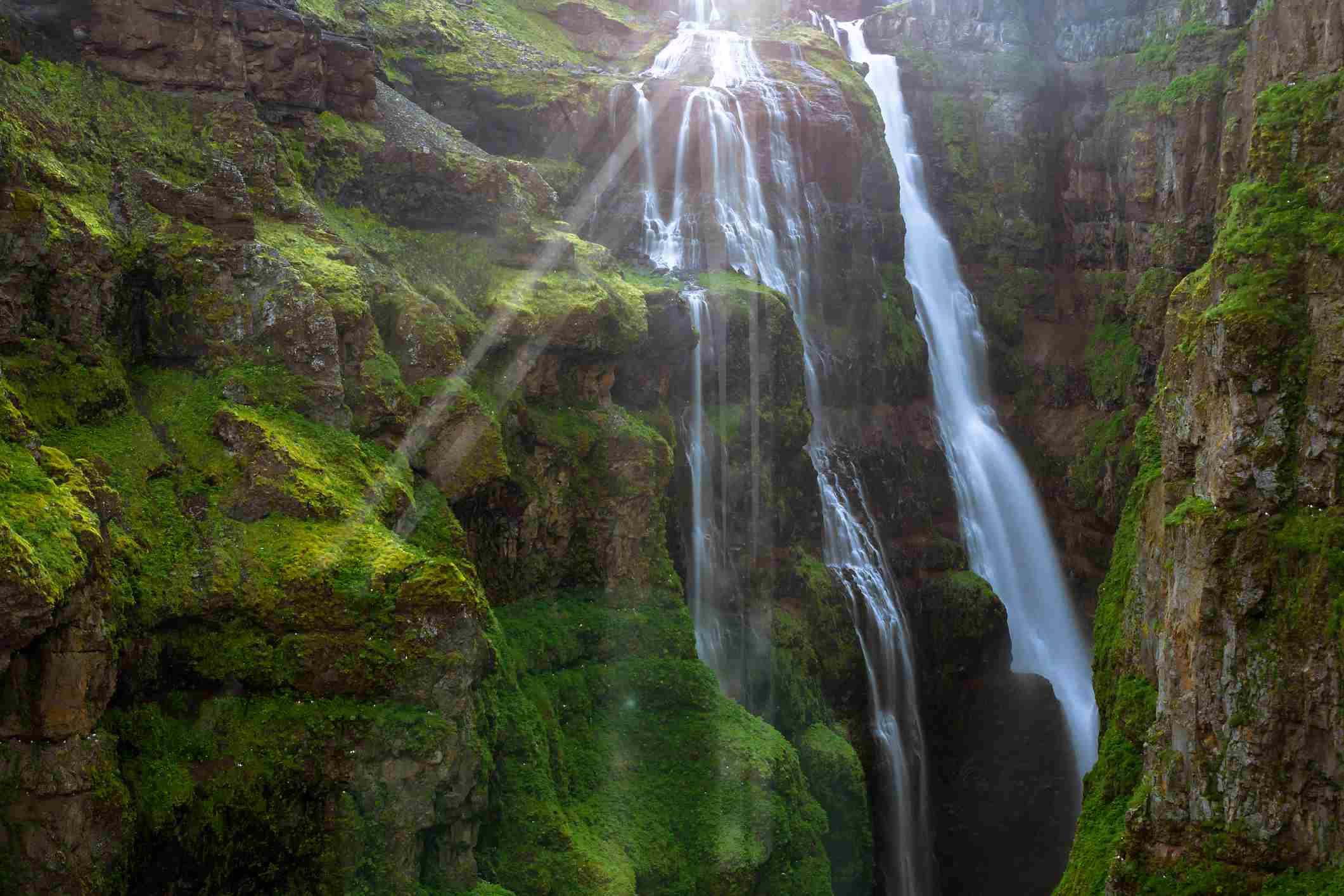 Cascada de Glymur en Islandia