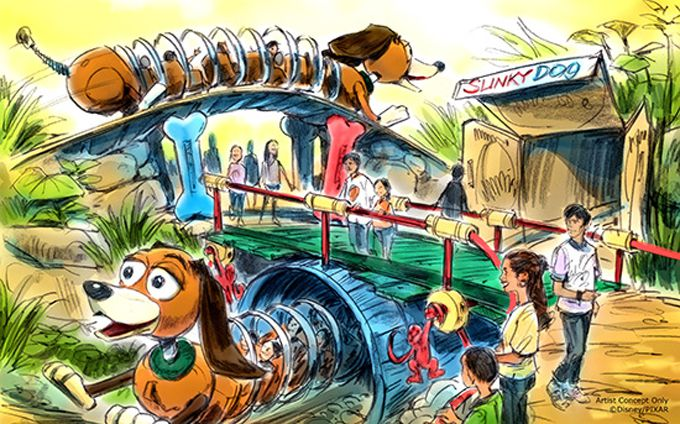 Slinky Dog Coaster coming to Toy Story Land.