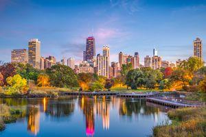 Lincoln Park, Chicago, Illinois Skyline