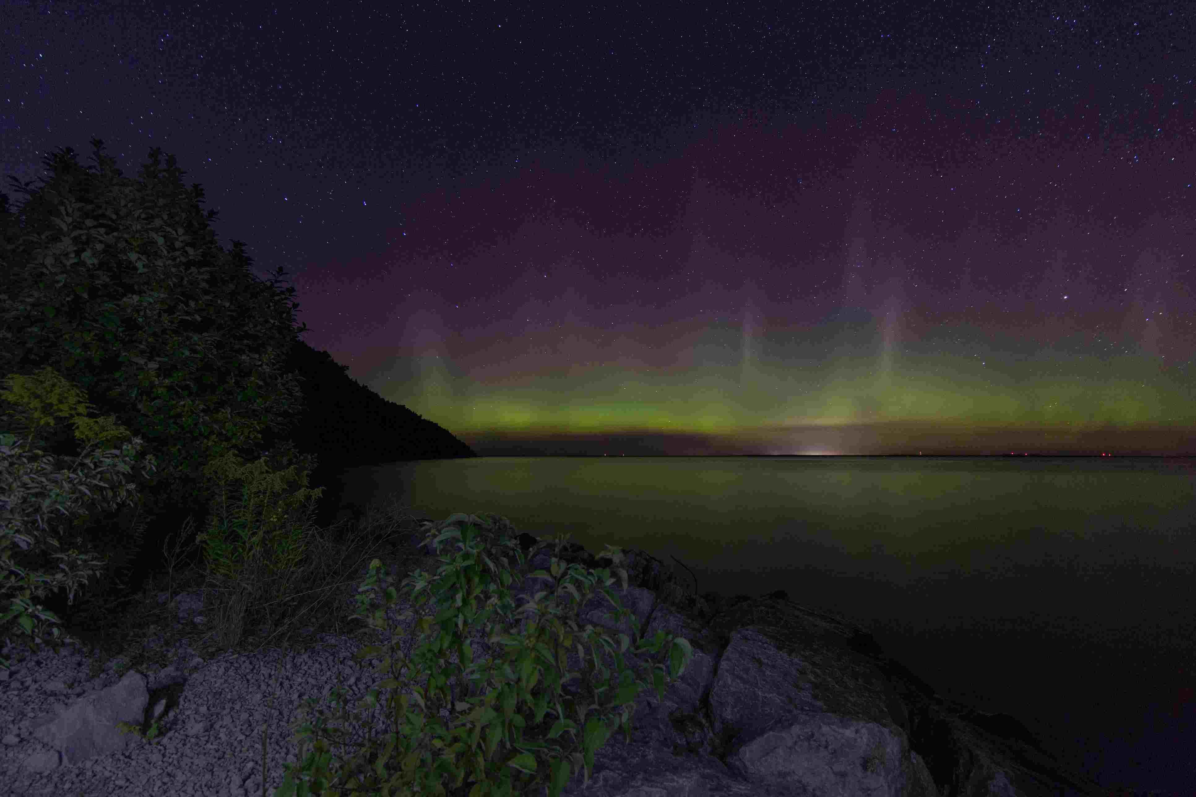 Northern Lights on Mackinac Island