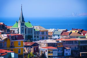 Panoramic view of the city of Valparaiso, Chile