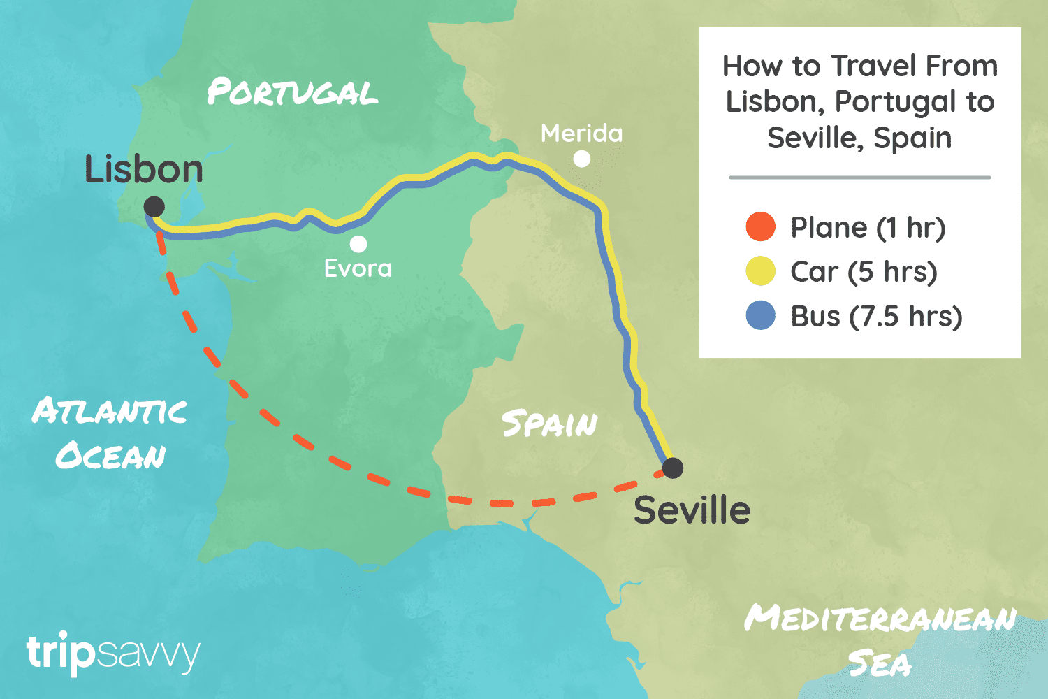 Lisbon Spain Map.How To Get From Lisbon To Seville