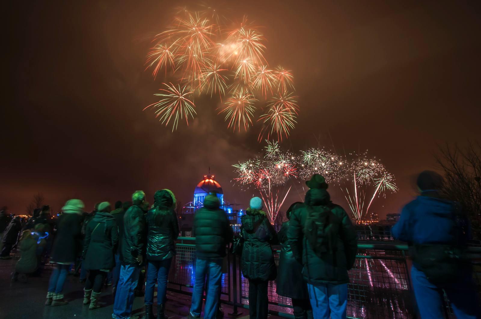 Kostenlose Aktivitäten in Montreal kommen Weihnachtsferien 2016-2017 gehören Feuerwerk zu tun.
