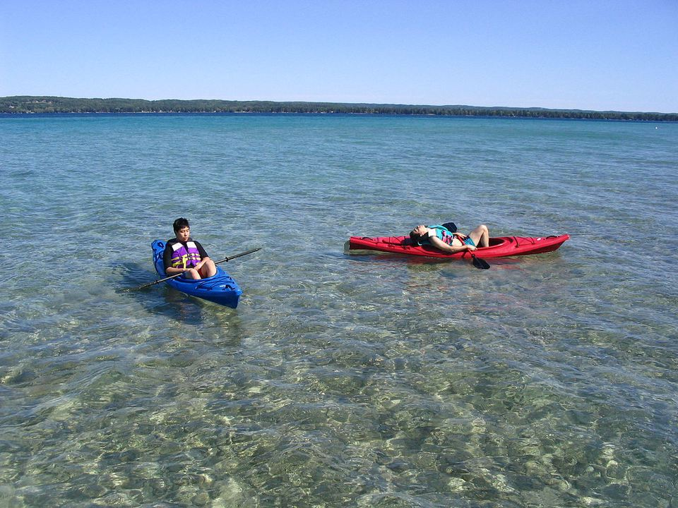 Kayaking on Torch Lake