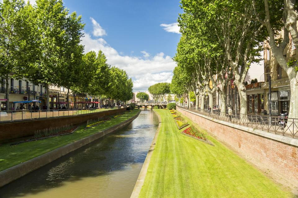 A city view of Perpignan, France