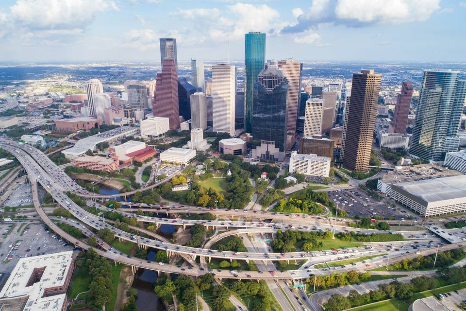Aerial view of Houston.
