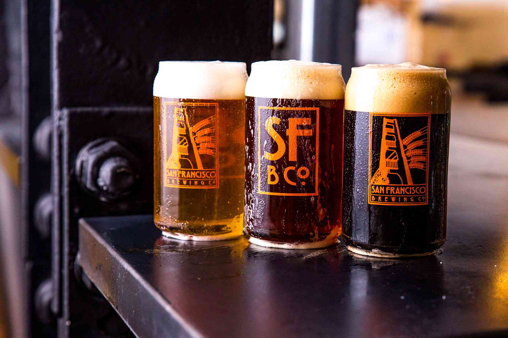 beers at San Francisco Brewing Co. & Restaurant