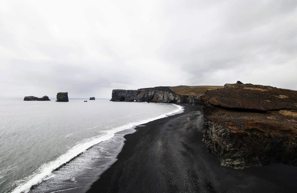 Black sand beach at Reynisfjara