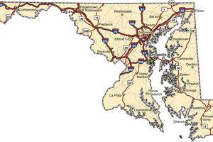 Maryland Highway Map (vector)
