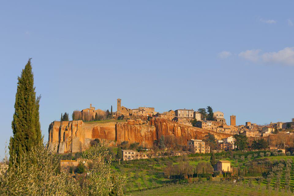 Italy, Umbria, Terni district, View of Orvieto