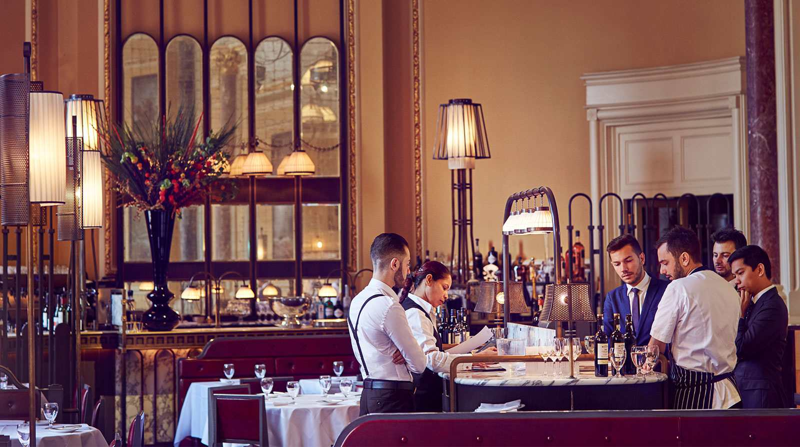 The Gilbert Scott at the Renaissance Hotel in London: an excellent choice for a gastronomic meal while waiting for the Eurostar.