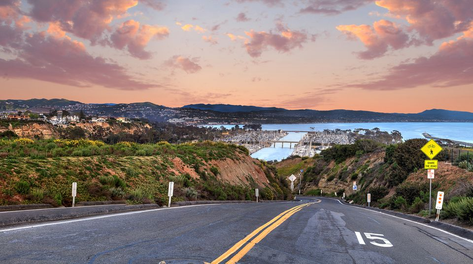 Road By Sea Against Sky During Sunset Dana Point