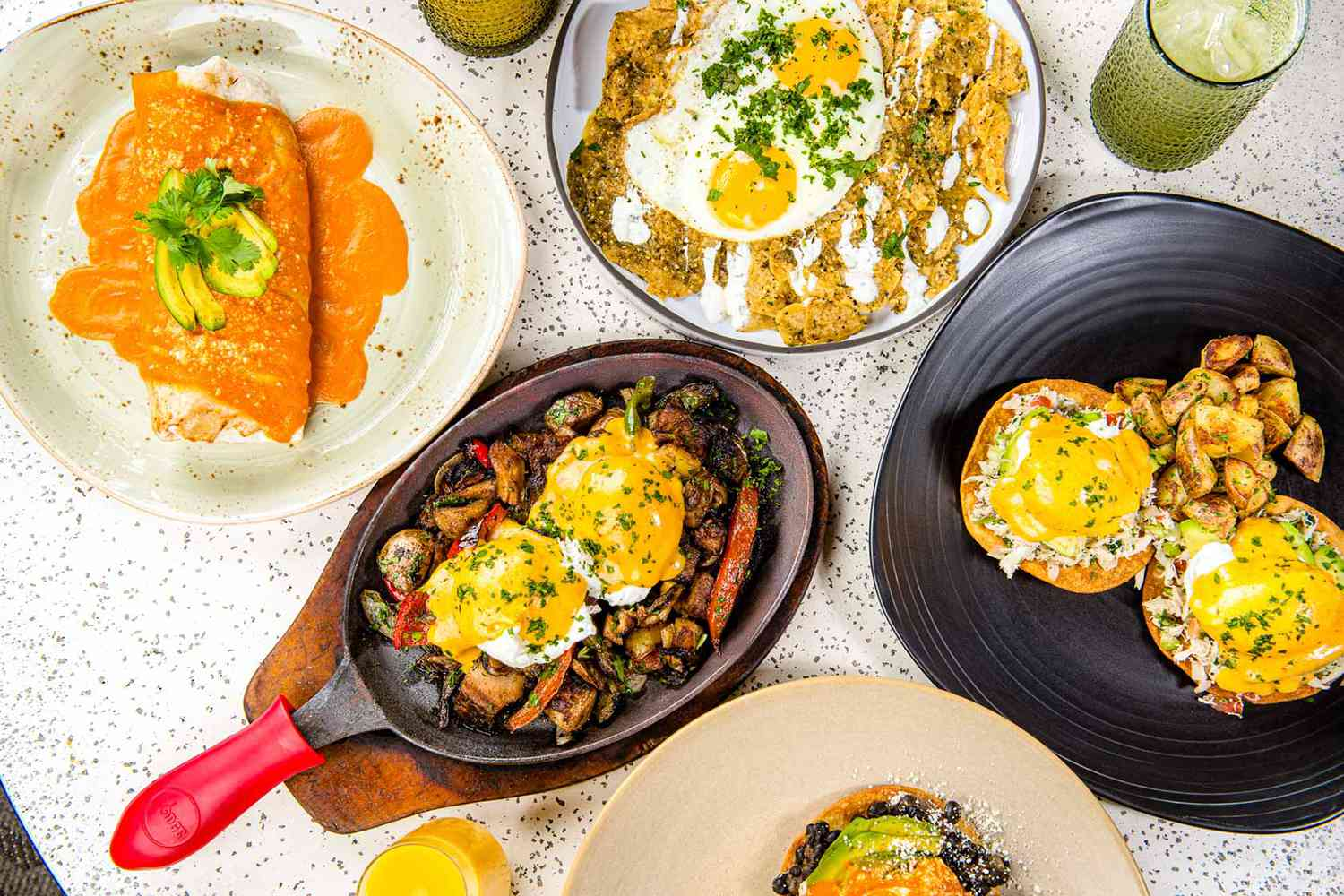Food on plates at Lona Cocina & Tequileria