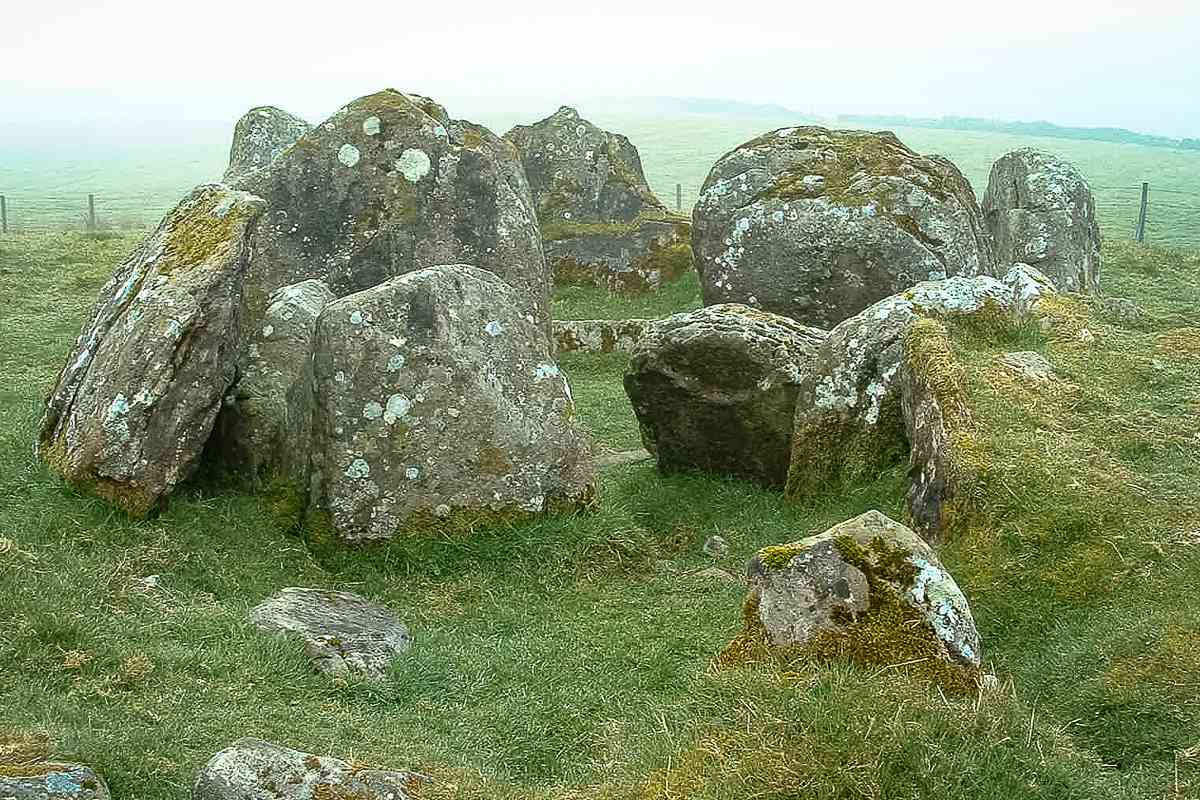 Some of the monuments on Loughcrew are very accessible