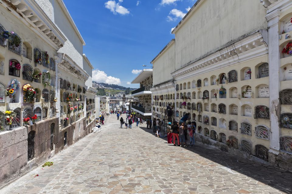 Ecuador, Quito, urn walls on All Souls Day