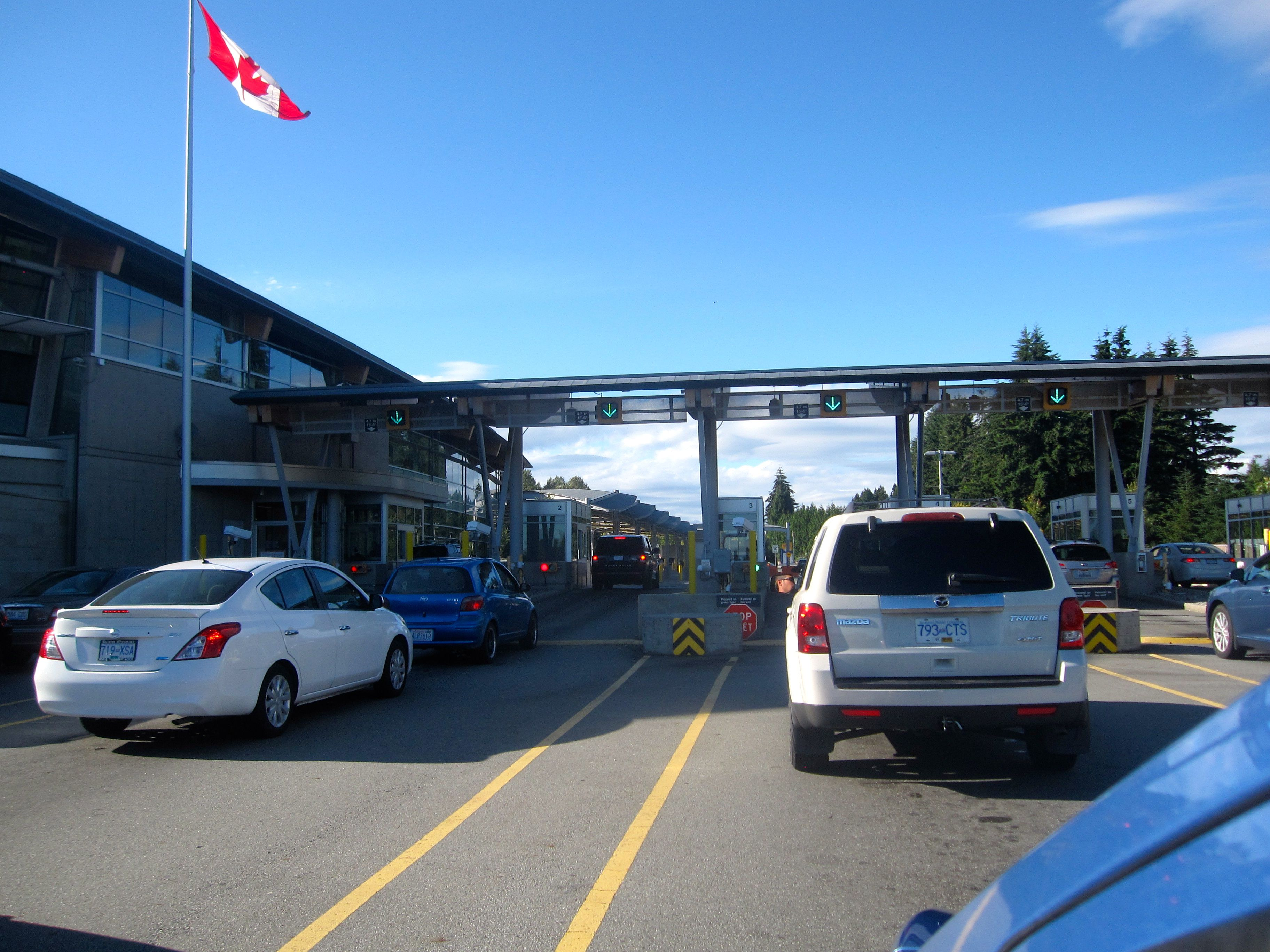 Vancouver, BC to Seattle, WA Border Crossings