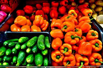Detail Shot Of Vegetables For Sale Salt Lake City