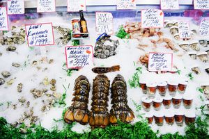 Seafood for sale at Pike Place Market Seattle