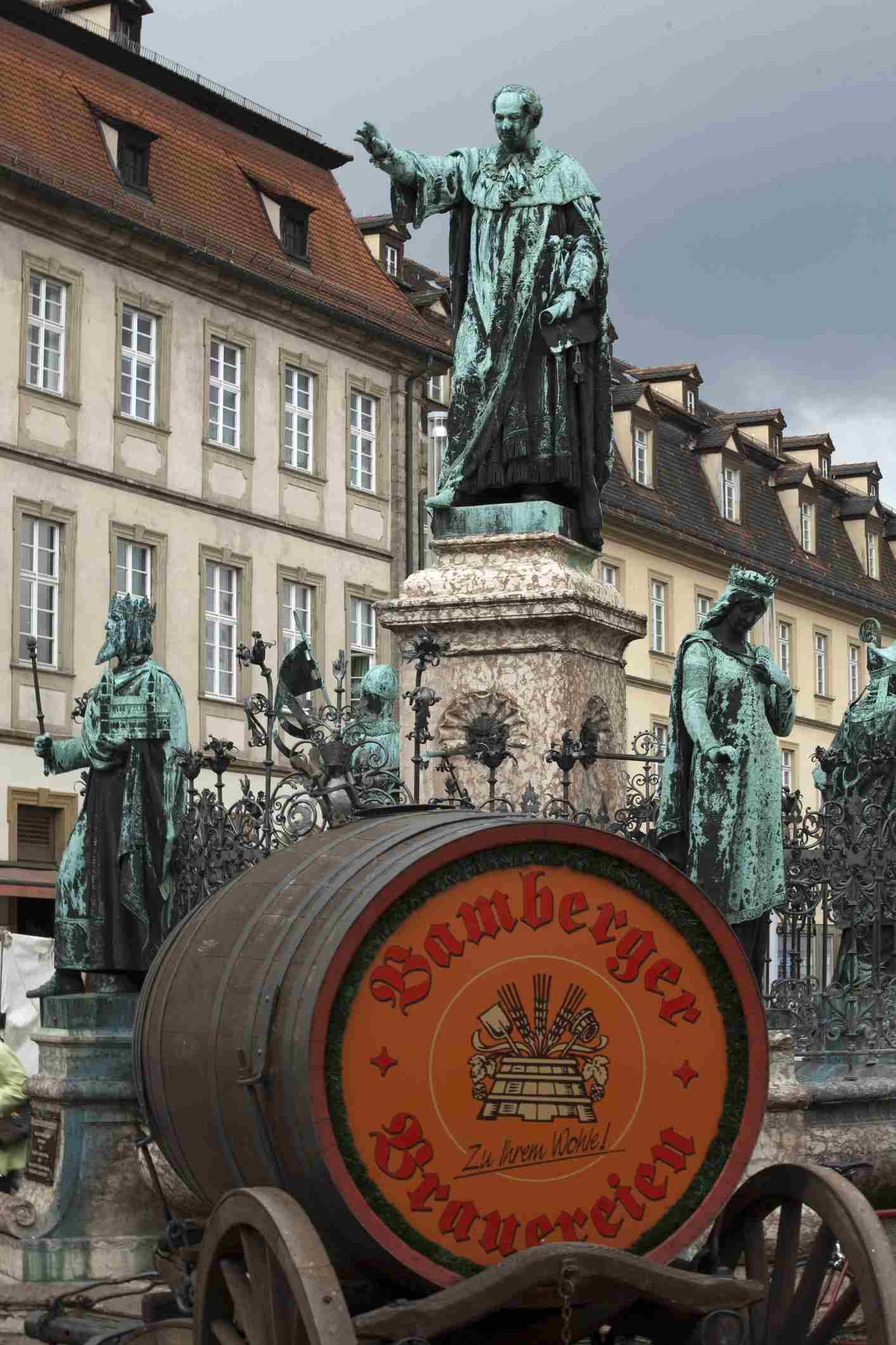 Bamberg beer barrel for festival