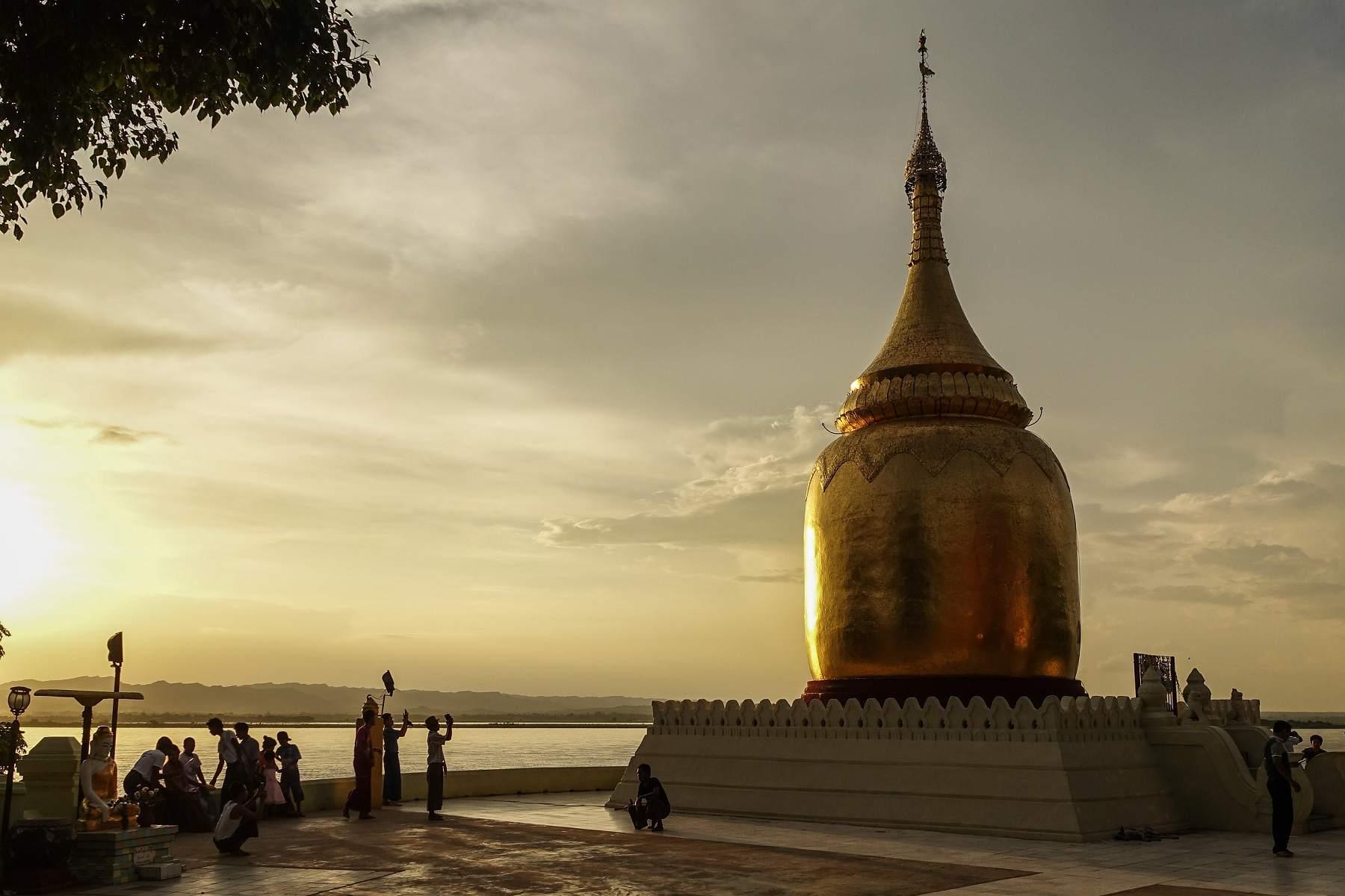 Sunset at Bupaya, Bagan, Myanmar